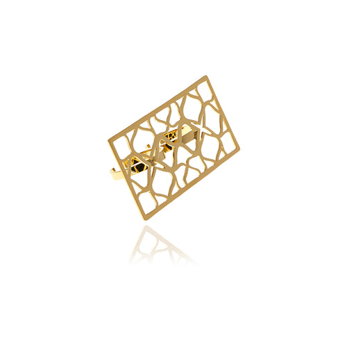 Runway Gold Rectangle Ring - Georgina Jewelry