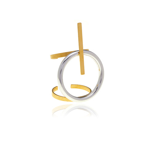 Runway Gold and Silver Ring - Georgina Jewelry