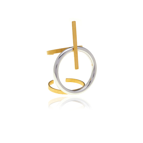 Runway Gold and Sterling Silver Ring