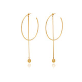 Runway Long Pendulum  Earring - Georgina Jewelry