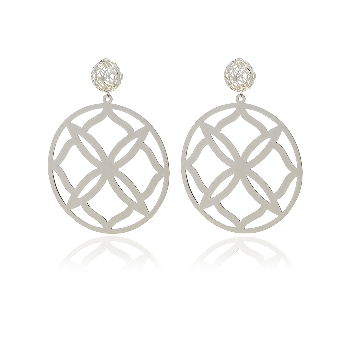Runway Sterling Silver Flower Earrings - Georgina Jewelry