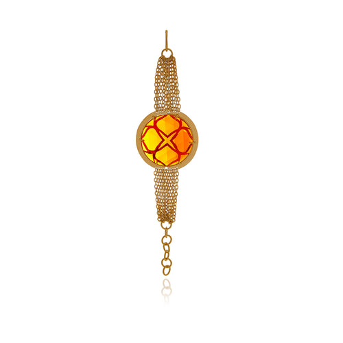 Runway Gold and Orange Bracelet - Georgina Jewelry