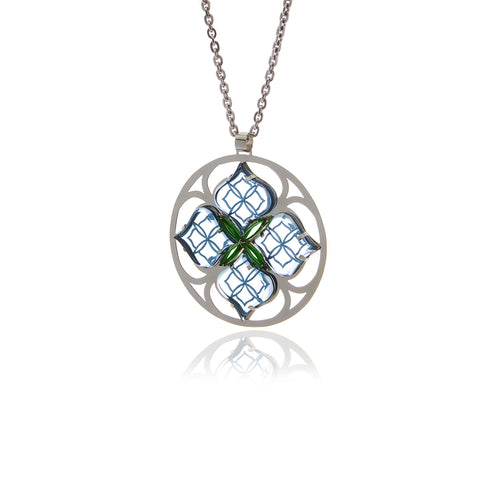 Runway Sterling Silver Medallion Necklace - Georgina Jewelry