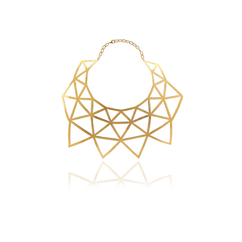 Runway Gold Triangle Necklace - Georgina Jewelry