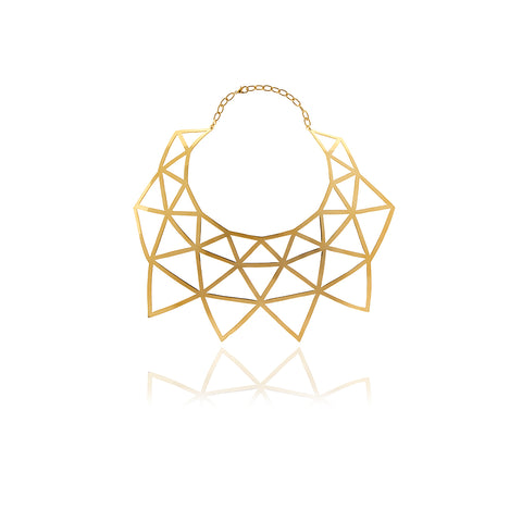 Runway Gold Medallion Choker
