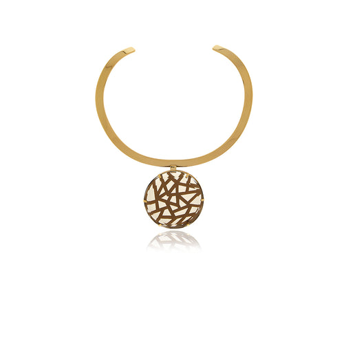 Runway Gold Medallion Choker - Georgina Jewelry