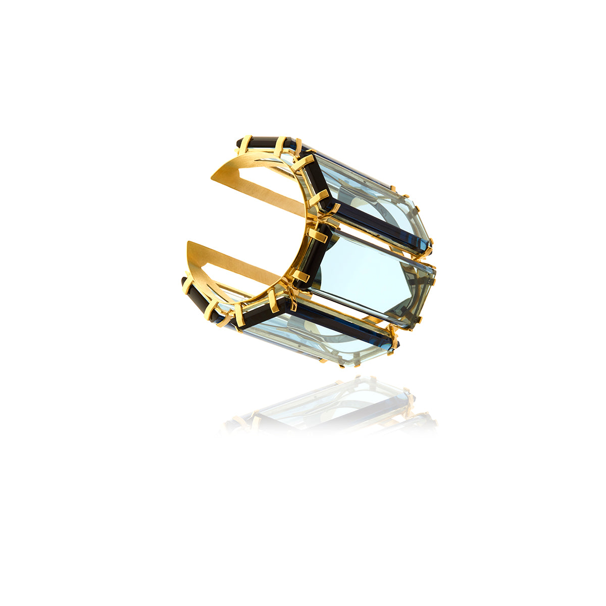 Runway Gold  Crystal Cuff - Georgina Jewelry