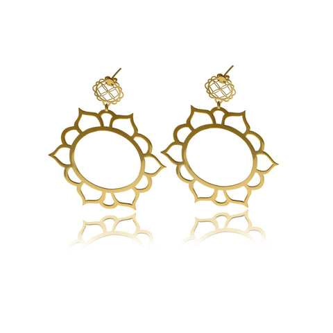 Signature Mini Gold Sphere  Earrings