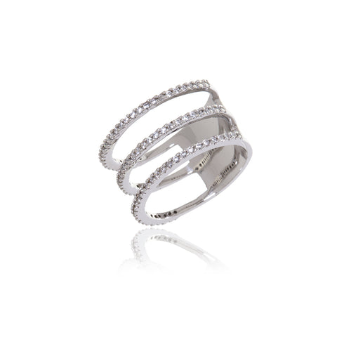 Triple Diamond  Infinity Ring - Georgina Jewelry