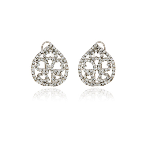 Chandelier Diamond Flower Earrings