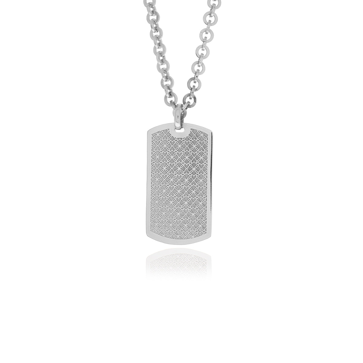 ERA Army Military Silver Dog Tag Mens Pendant - Georgina Jewelry