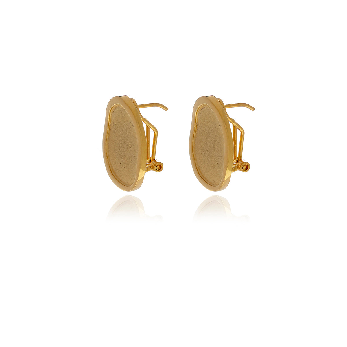 Gold Foil  Earrings - Georgina Jewelry