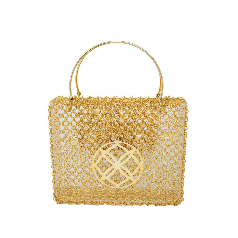 Jewelry Gold Mesh Purse