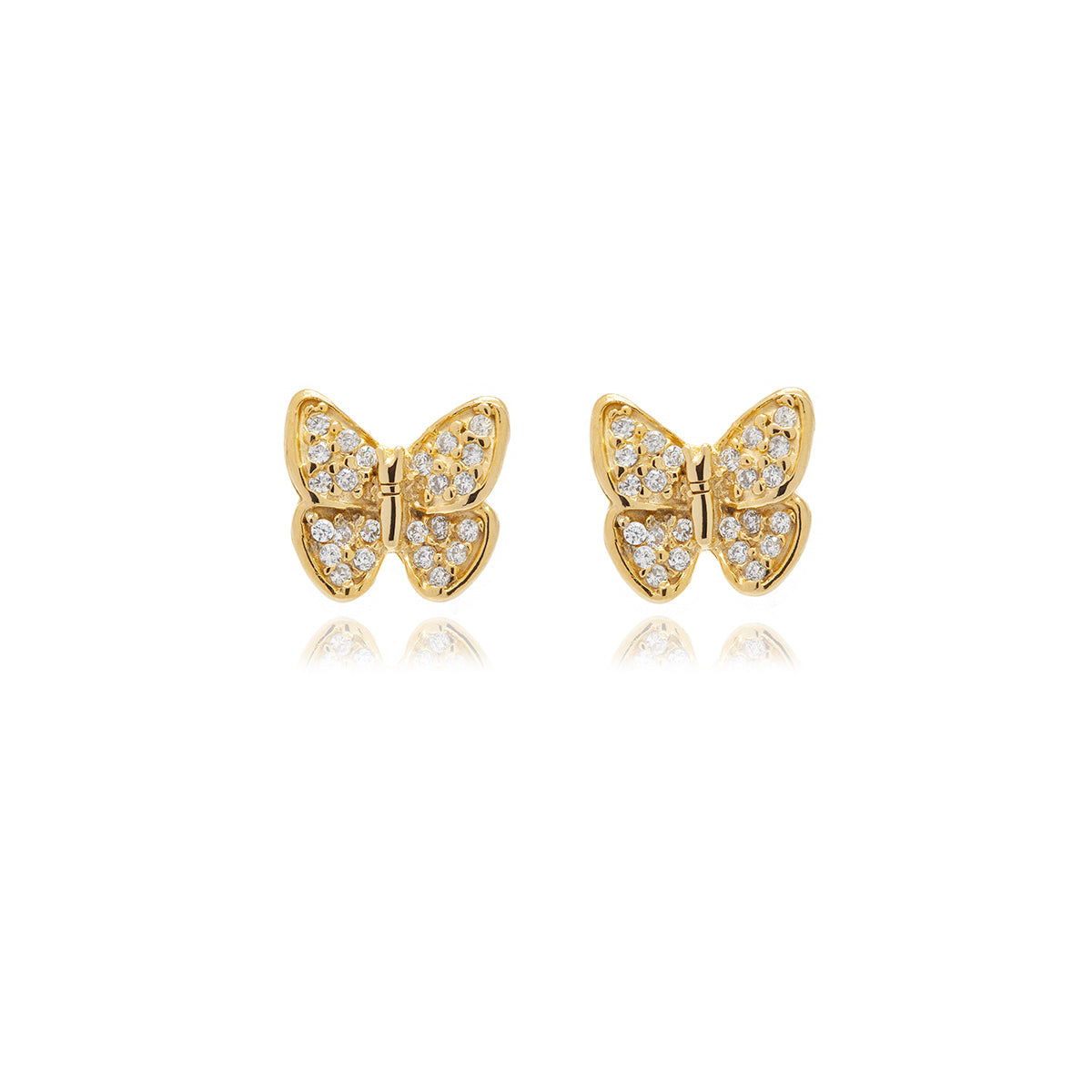 Mini Butterfly Diamond  Earrings - Georgina Jewelry