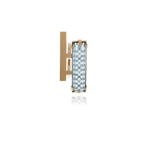 Double Bar - Two Finger Crystal Ring - Georgina Jewelry