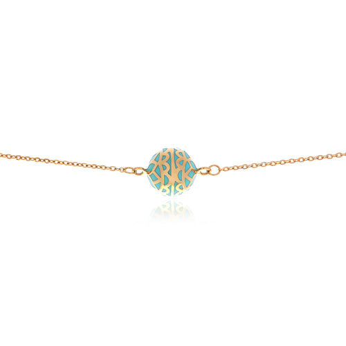 Signature  Gold Flower  Ball Necklace - Georgina Jewelry