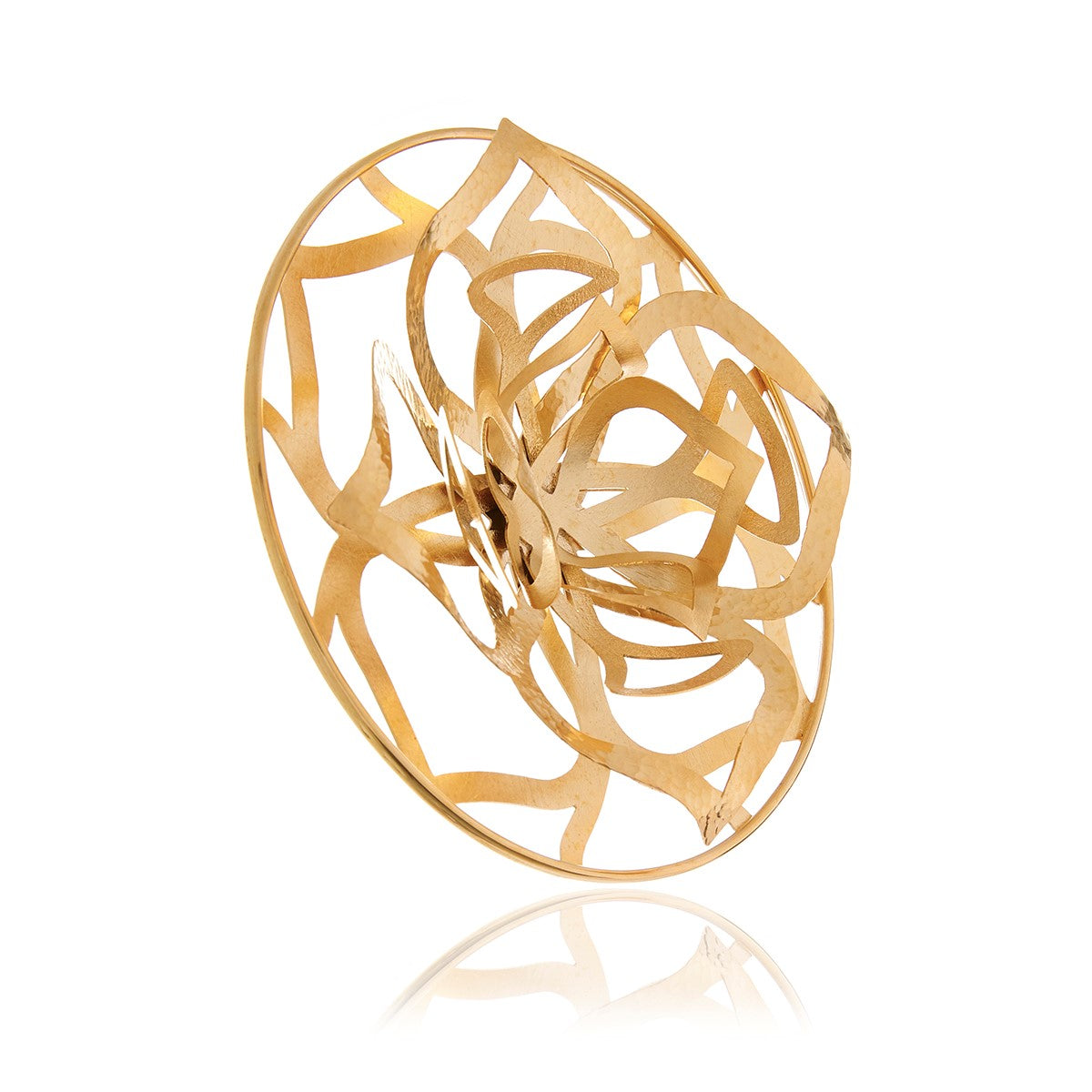 Gold Flower 3D Ring - Georgina Jewelry