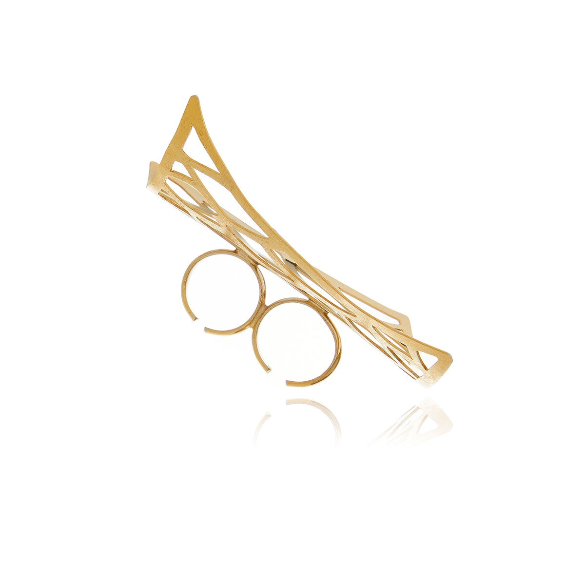 Petal Runway Gold Ring - Georgina Jewelry