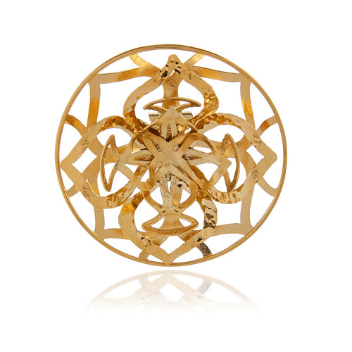 Gold Flower 3D Brazalet - Georgina Jewelry