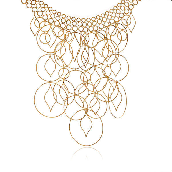 Petal Hoops Gold Necklace - Georgina Jewelry
