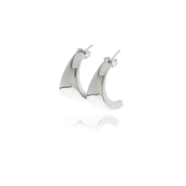 Reverie Silver Smooth Eardrop - Georgina Jewelry
