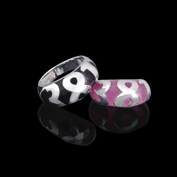381 Sterling Silver Ceramic band - Georgina Jewelry
