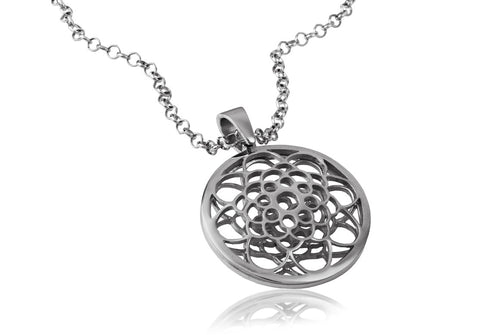 Sidereal Silver Flower Necklace - Georgina Jewelry