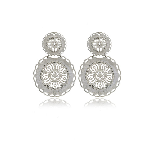 Les Racines Long Filigree Earrings