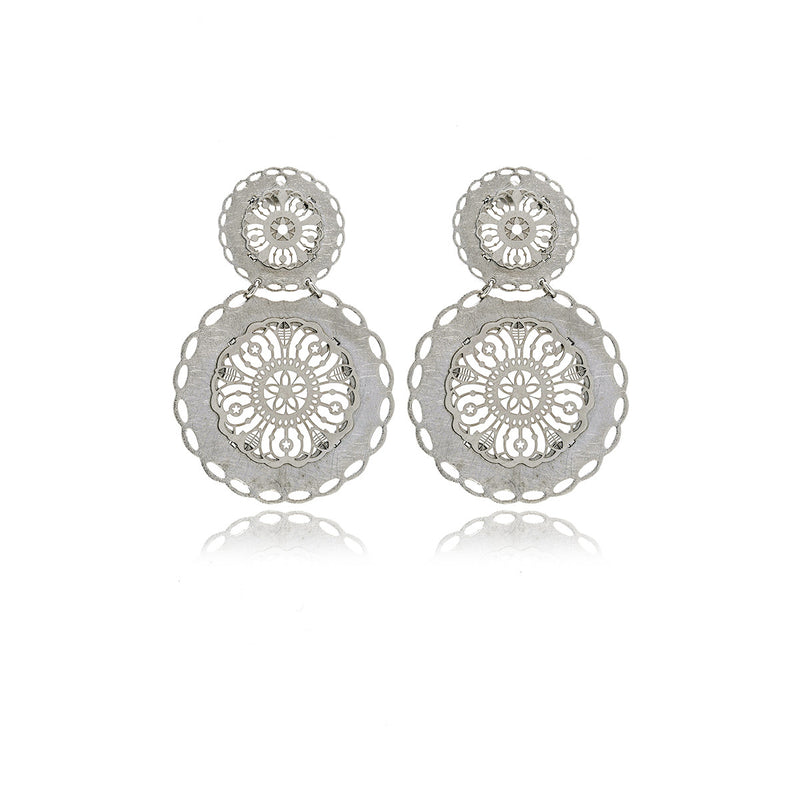 Les Racines Long Filigree Eardrop - Georgina Jewelry