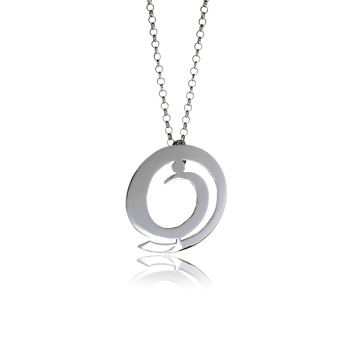 Sidereal Silver Spiral Necklace - Georgina Jewelry