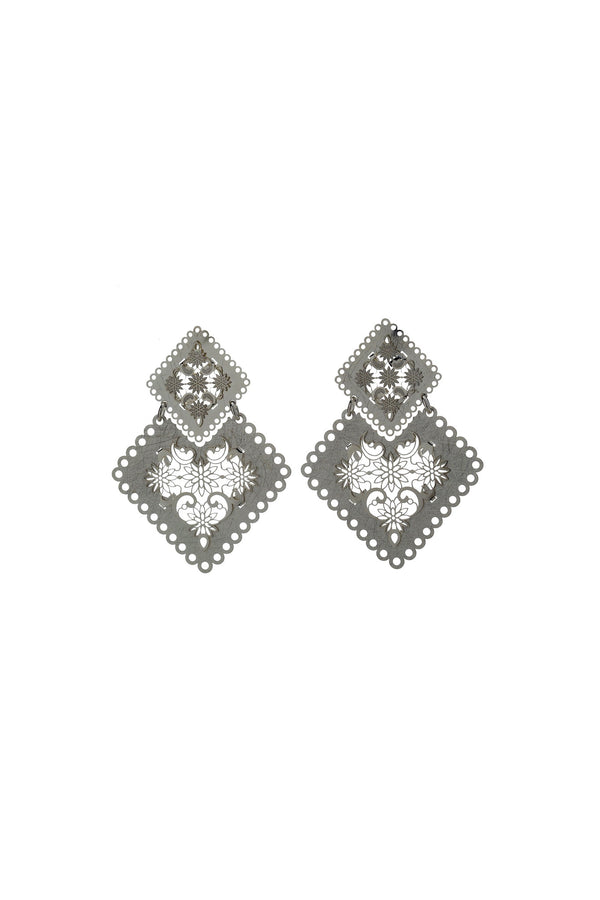 Les Racines Filigree Eardrops - Georgina Jewelry