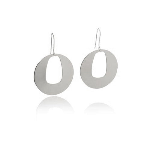 Reverie Silver Square Circle Earrings - Georgina Jewelry