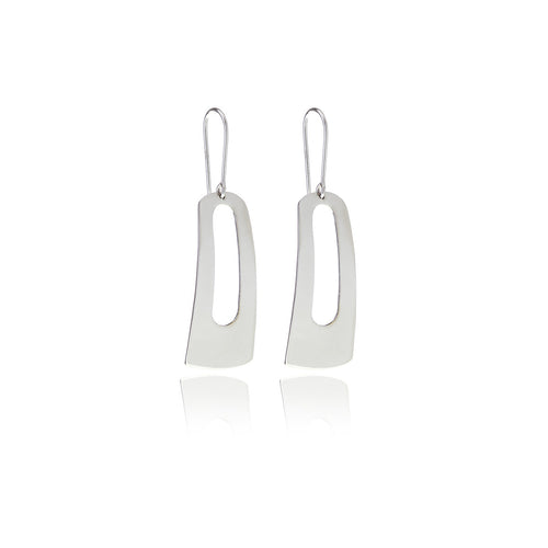 Reverie Silver Rectangle Earrings - Georgina Jewelry