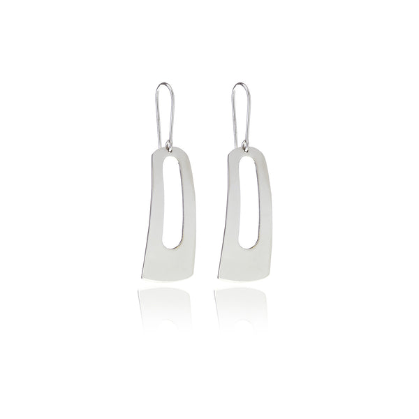 Reverie Silver Rectangle Eardrop - Georgina Jewelry