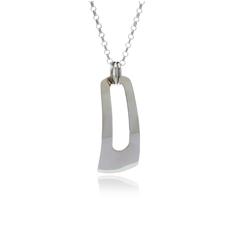 Reverie Silver  Rectangle Pendant - Georgina Jewelry