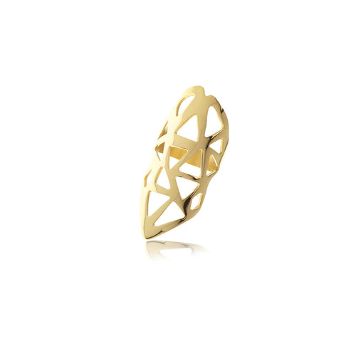 Les Racines Gold Triangle Ring - MCK Brands