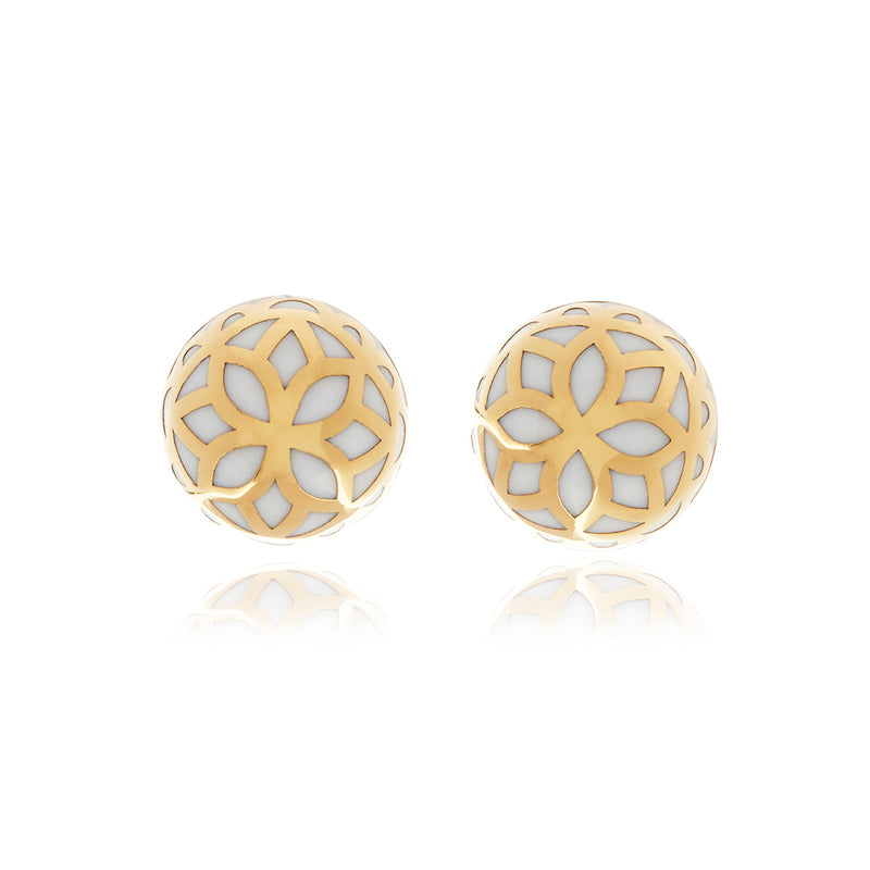 Signature Flower Ball Earrings - Georgina Jewelry