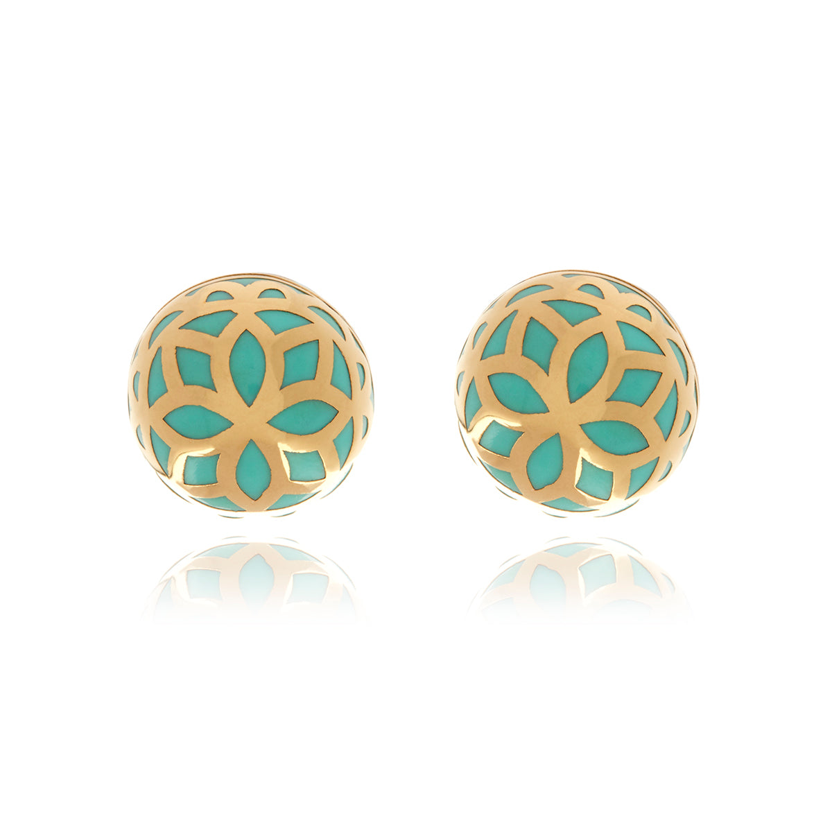Signature  Gold Flower  Ball Earrings - MCK Brands
