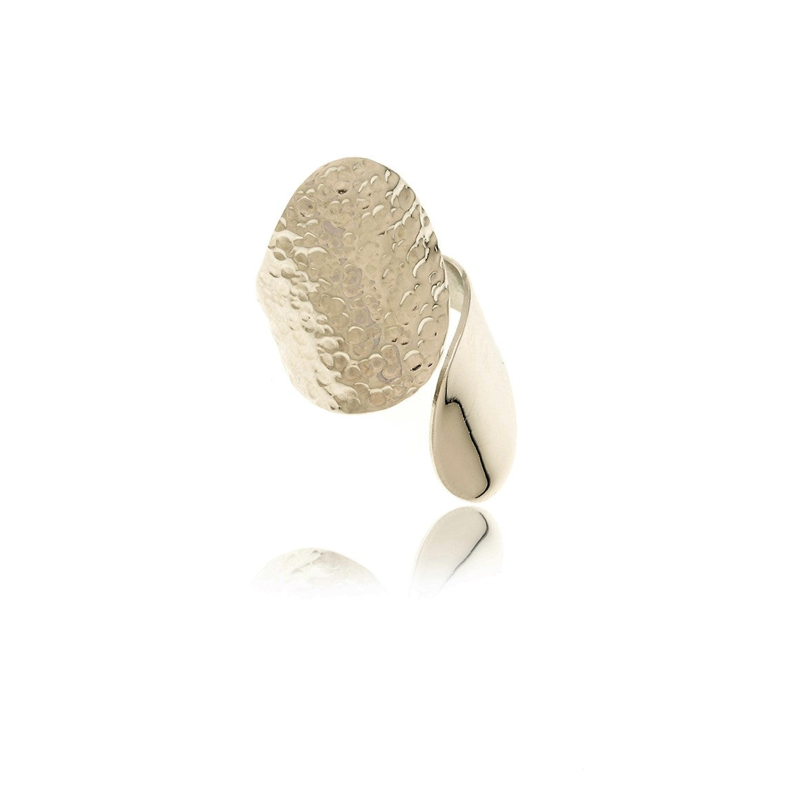 Sidereal Hammered Adjustable Ring - Georgina Jewelry