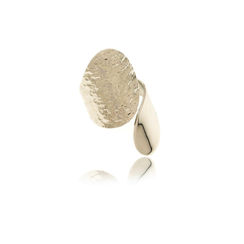 Sidereal Hammered Gold Ring - MCK Brands