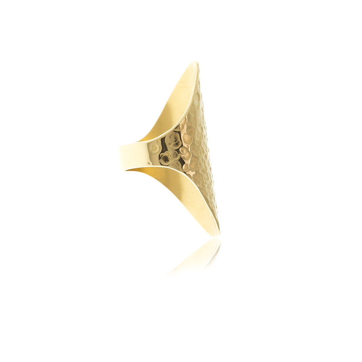Sidereal Gold Hammered Ring - Georgina Jewelry