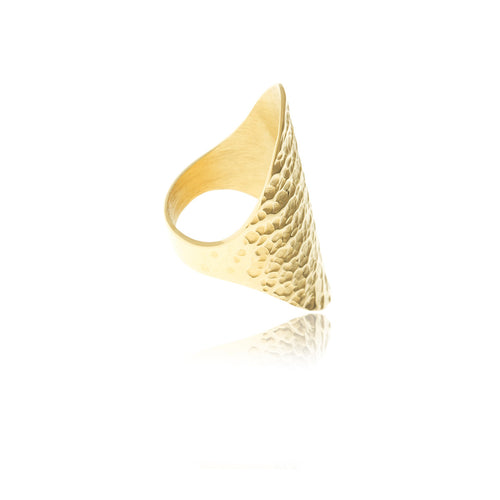 Sidereal Gold Hammered Ring