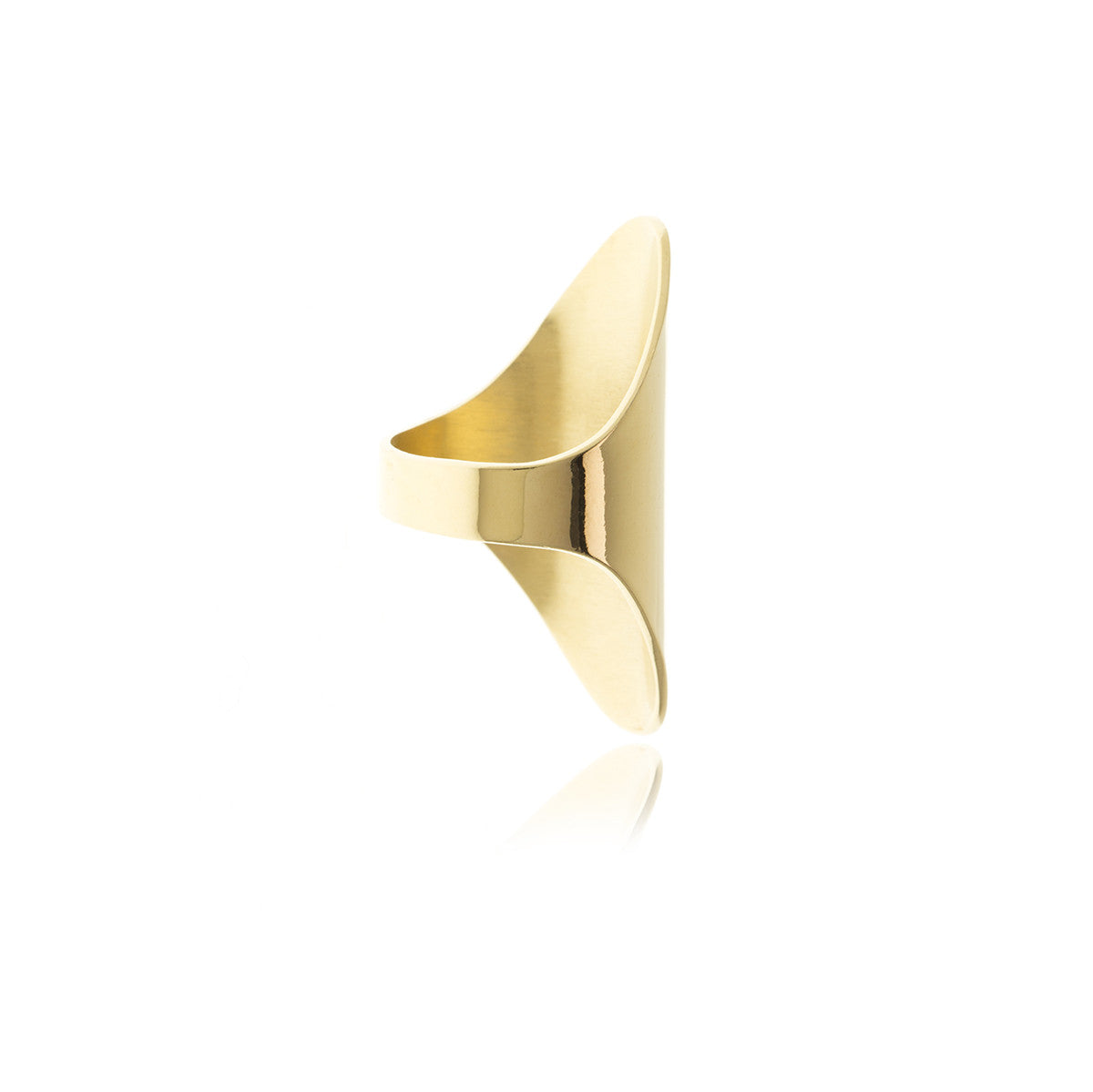 Sidereal Gold Smooth Ring - Georgina Jewelry