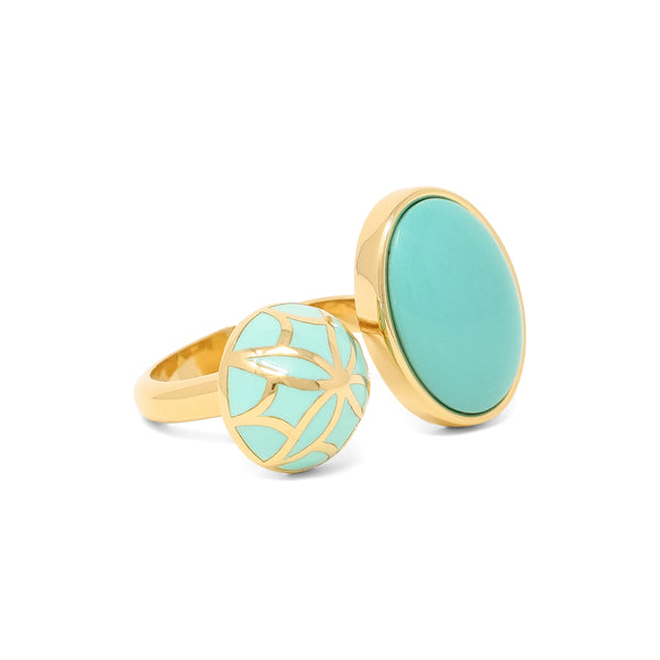 Signature Sphere Turquoise  Resin Ring