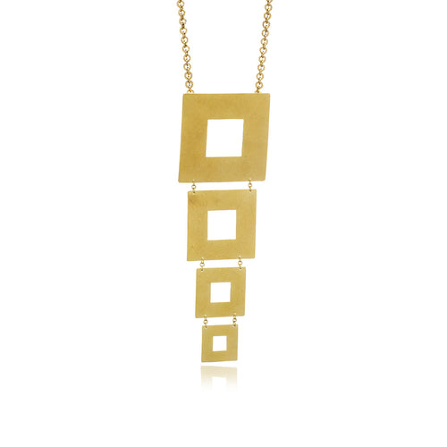 Releve Square Necklace - Georgina Jewelry