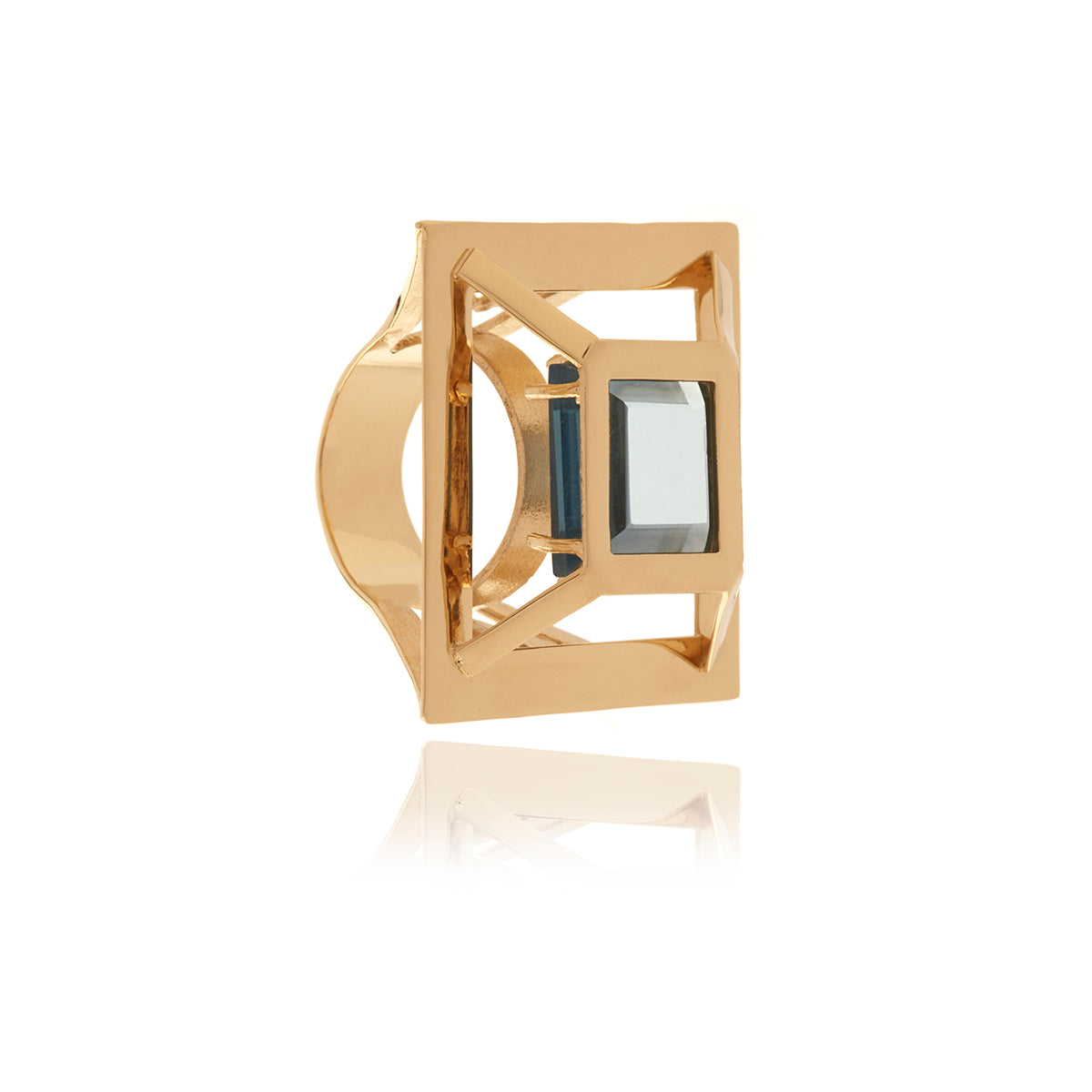 Gold Square Ring