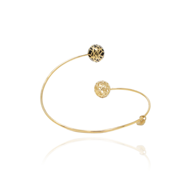 Gold Signature Sphere Resin Bracelet