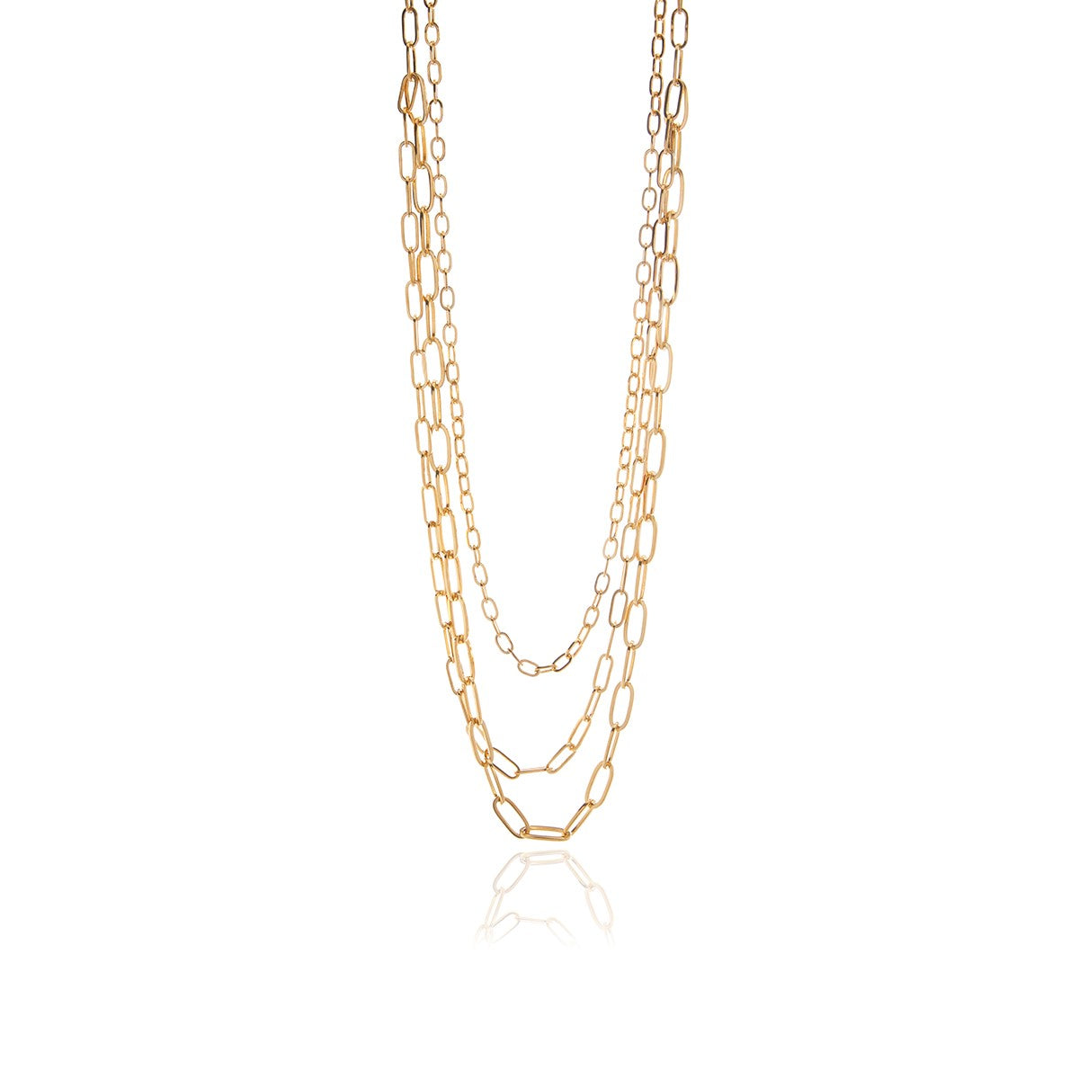 Three in One Long Chain Necklace - Georgina Jewelry