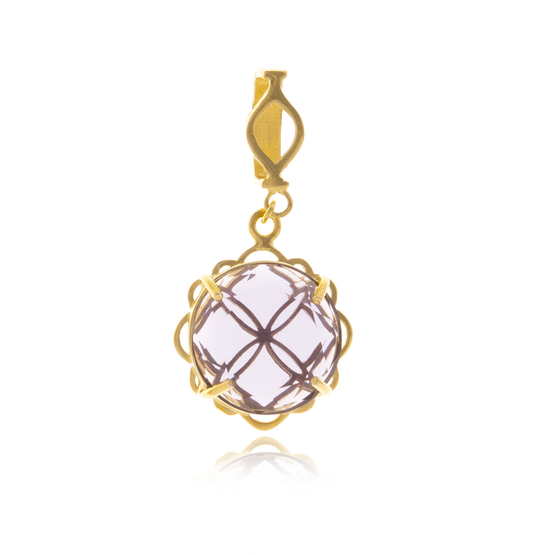 Signature Gold Crystal Flower Charm with Choker - MCK Brands