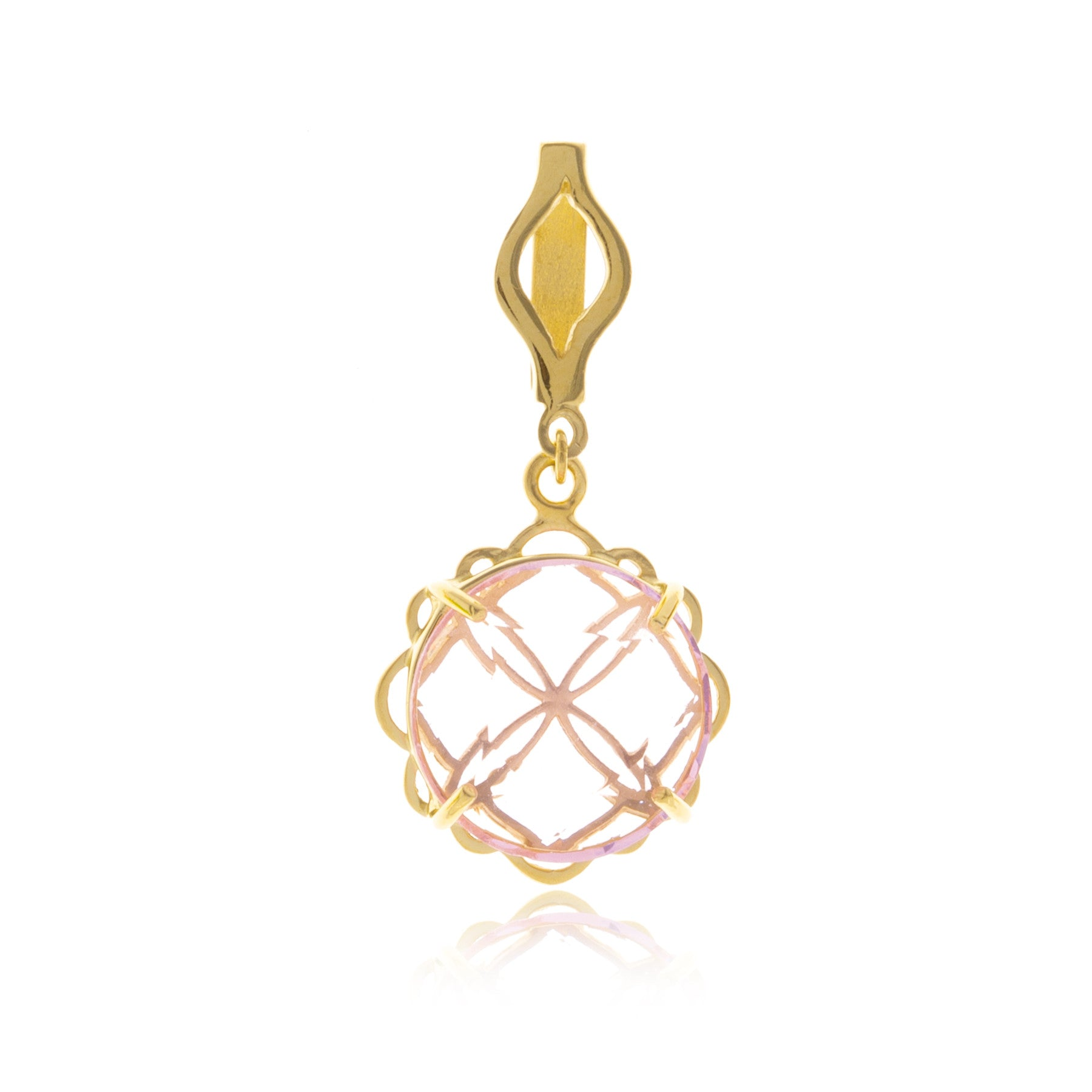 Signature Gold Crystal Flower Charm with Choker - Georgina Jewelry